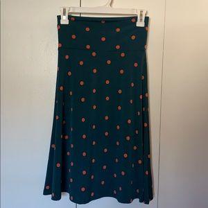 LulaRoe Azure Teal Dot Skirt